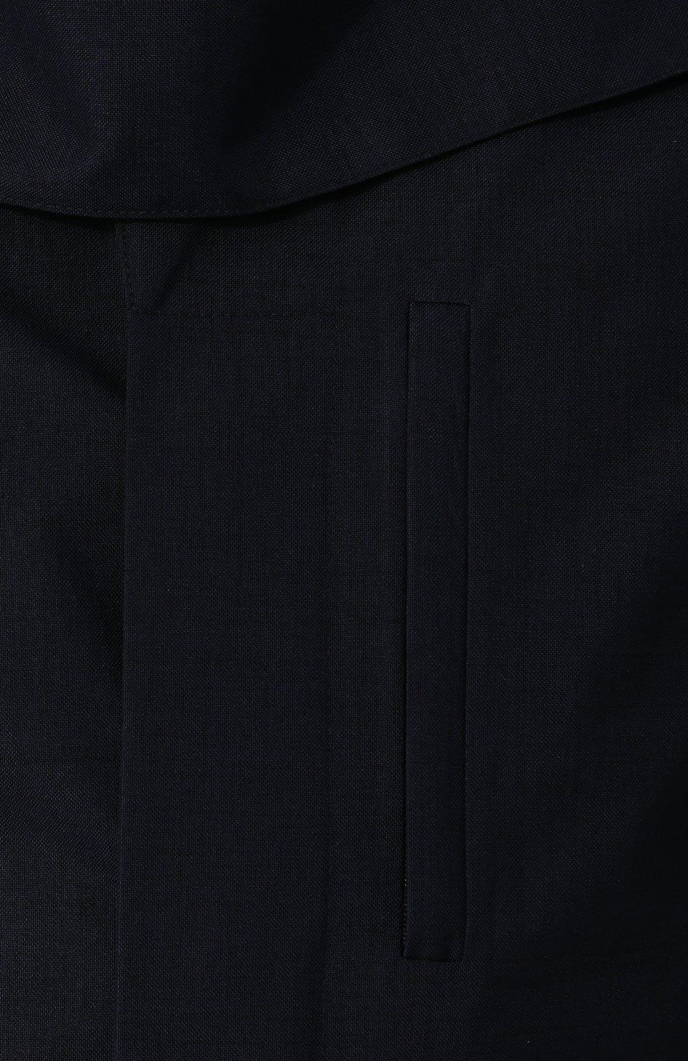 Мужской укороченный плащ на пуговицах с капюшоном NORWEGIAN RAIN темно-синего цвета, арт. CABAN SINGLE BREASTED/MIXED | Фото 5