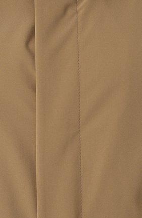 Мужской плащ прямого кроя на пуговицах с капюшоном NORWEGIAN RAIN бежевого цвета, арт. GENEVE/SLW   Фото 5