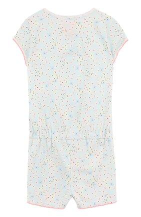 Детская хлопковая пижама на молнии SANETTA голубого цвета, арт. 244139 | Фото 2