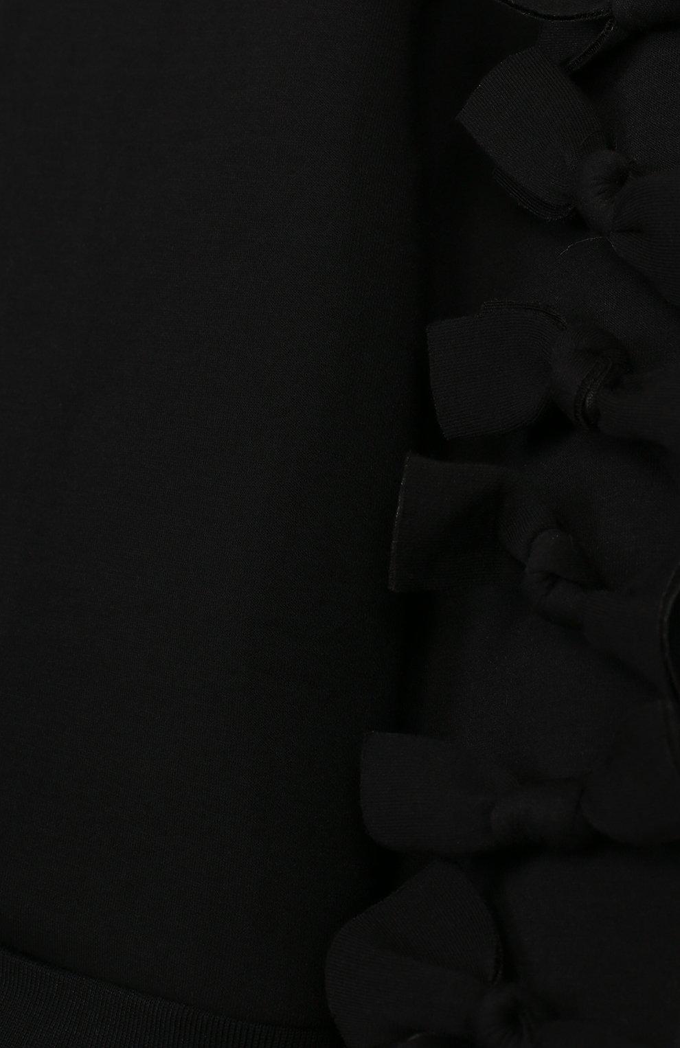 Детский кардиган на молнии с бантами SONIA RYKIEL ENFANT черного цвета, арт. 18S10U02 | Фото 3