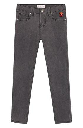 Детские джинсы прямого кроя Sonia Rykiel Enfant серого цвета | Фото №1