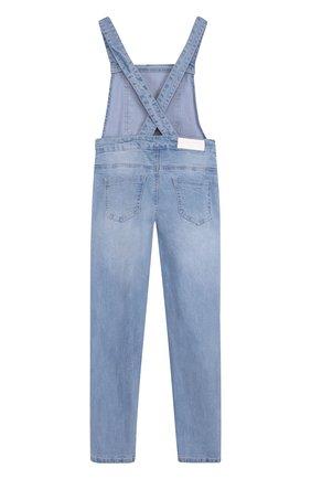 Детский джинсовый комбинезон с вышивкой SONIA RYKIEL ENFANT голубого цвета, арт. 18S1PA05 | Фото 2