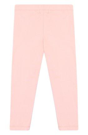Хлопковые леггинсы Sonia Rykiel Enfant розового цвета | Фото №1