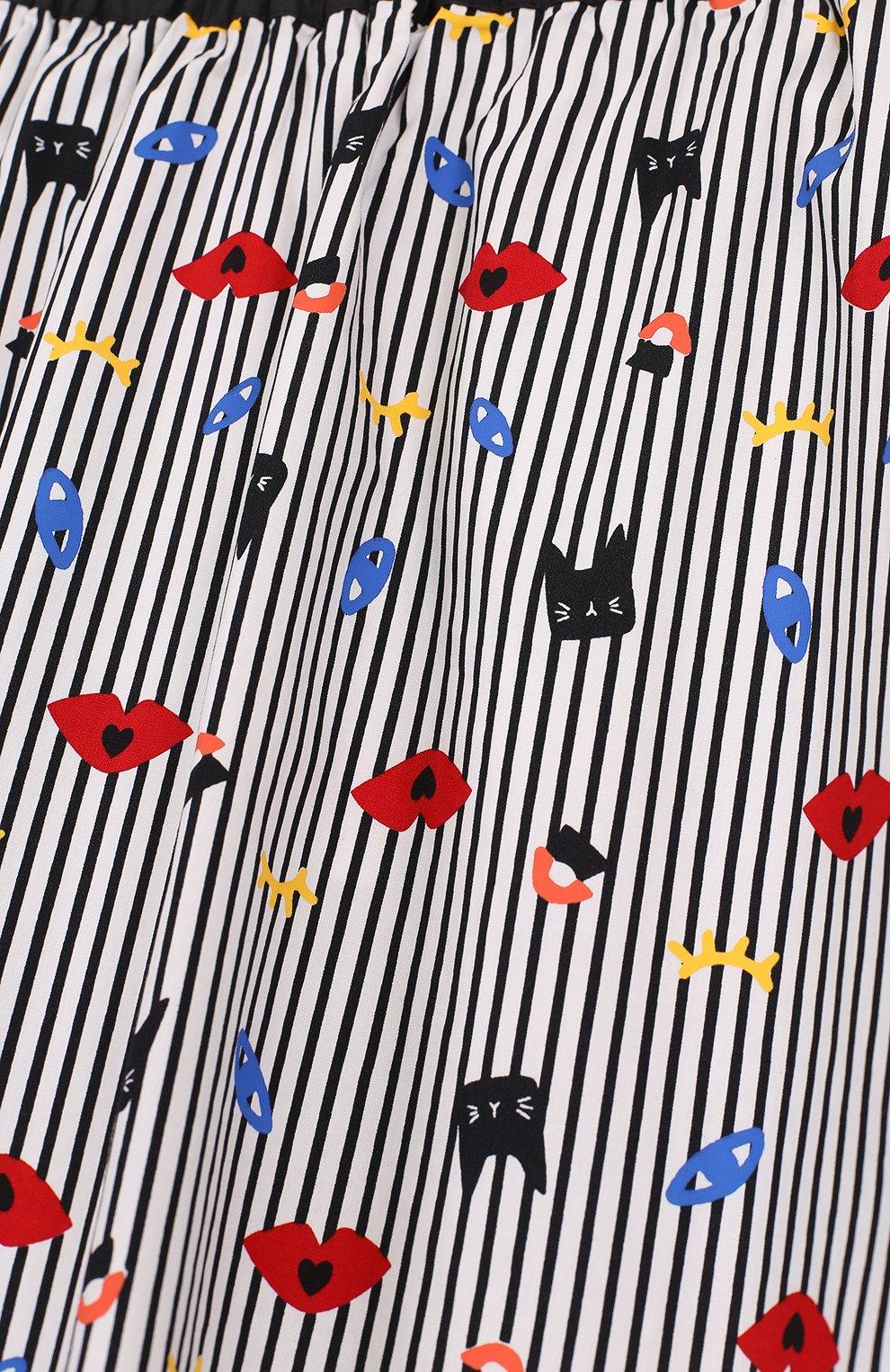 Хлопковая юбка-миди с принтом   Фото №3