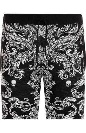 Льняные шорты с поясом на кулиске | Фото №1