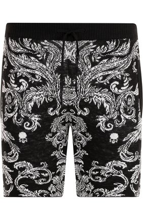 Льняные шорты с поясом на кулиске Gemma. H черные | Фото №1