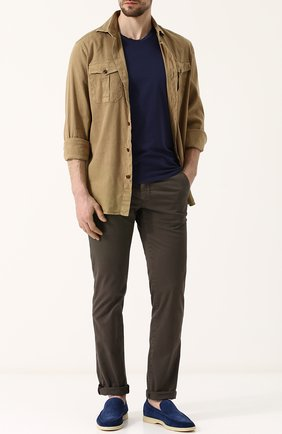 Мужская рубашка из смеси льна и хлопка LORO PIANA темно-бежевого цвета, арт. FAI0821 | Фото 2