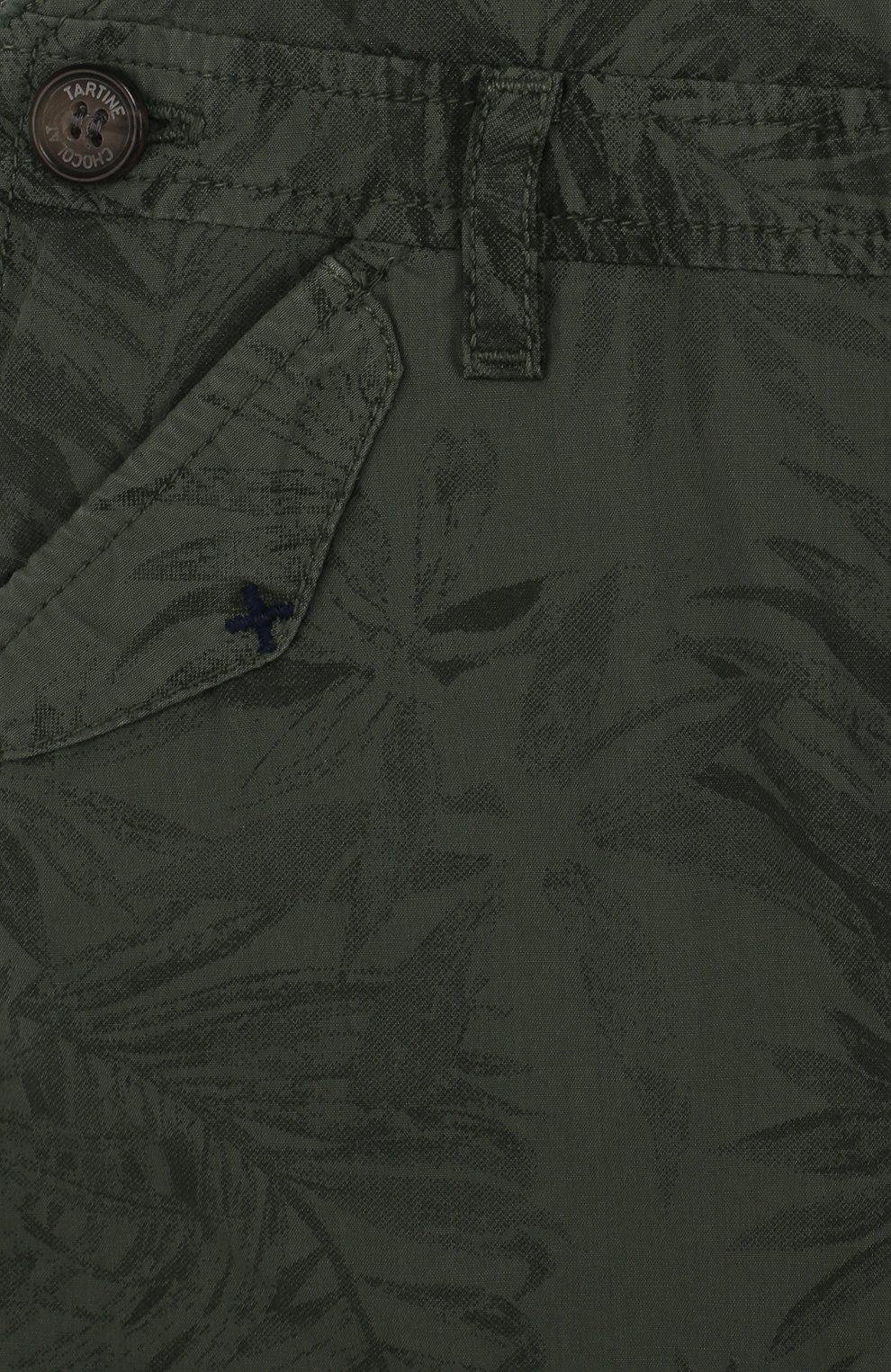Детский хлопковый комбинезон с принтом TARTINE ET CHOCOLAT хаки цвета, арт. TL21031/1M-18M | Фото 3