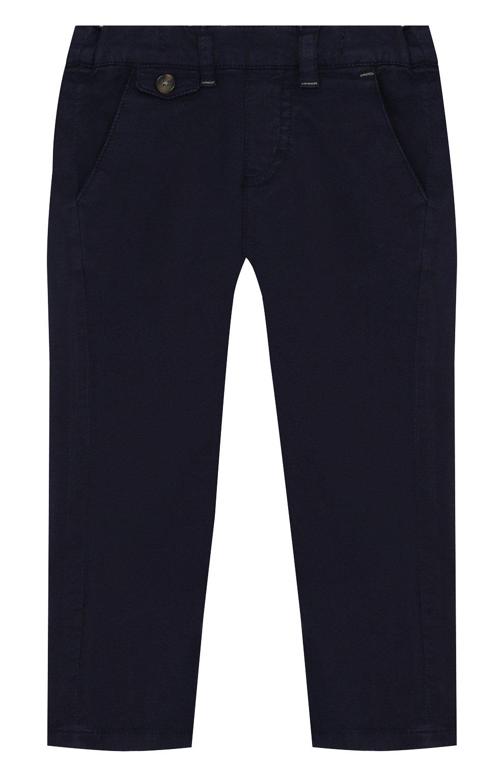 Детские хлопковые брюки прямого кроя TARTINE ET CHOCOLAT темно-синего цвета, арт. TL22091/1M-18M | Фото 1