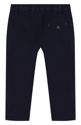 Детские хлопковые брюки прямого кроя TARTINE ET CHOCOLAT темно-синего цвета, арт. TL22091/1M-18M | Фото 2