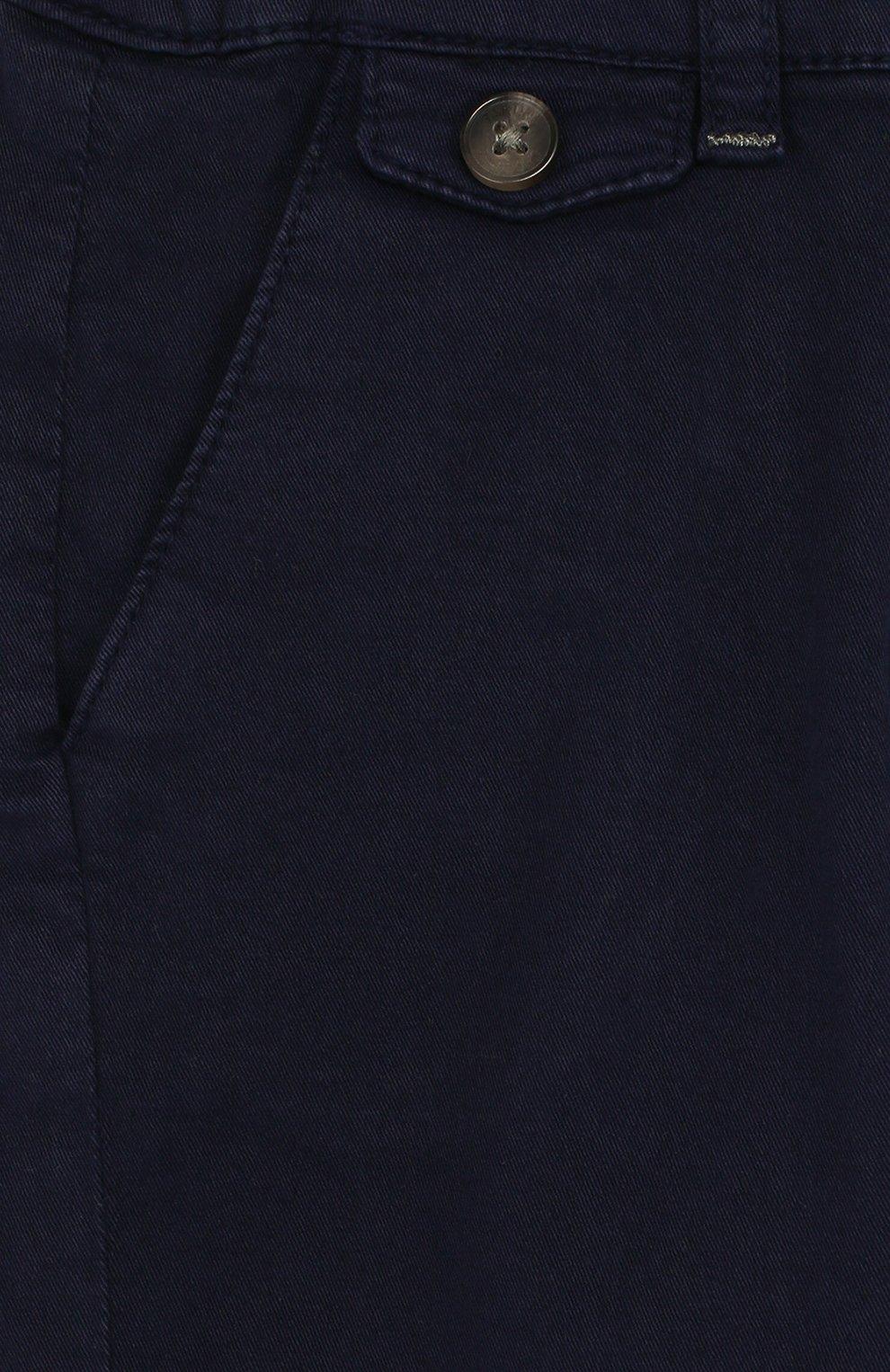 Детские хлопковые брюки прямого кроя TARTINE ET CHOCOLAT темно-синего цвета, арт. TL22091/1M-18M | Фото 3