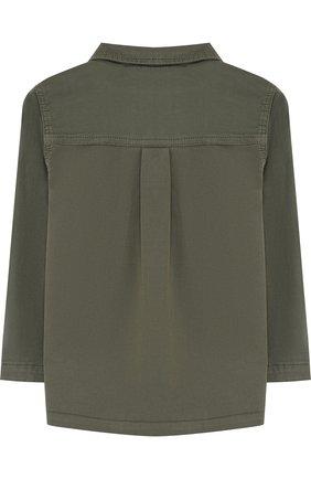 Детского хлопковая куртка на пуговицах TARTINE ET CHOCOLAT хаки цвета, арт. TL40001/1M-18M   Фото 2