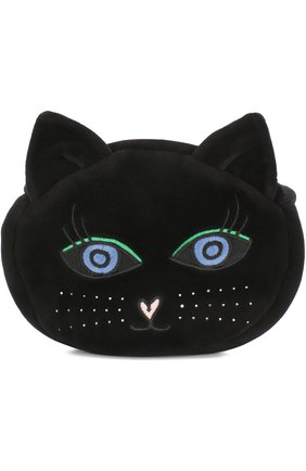 Текстильная сумка с вышивкой Sonia Rykiel Enfant черного цвета | Фото №1