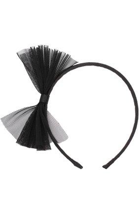Ободок с бантом Sonia Rykiel Enfant черного цвета | Фото №1