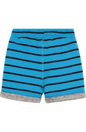 Детские хлопковые шорты с поясом на кулиске MARC JACOBS (THE) голубого цвета, арт. W04148 | Фото 2