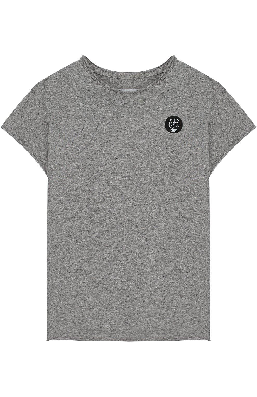 Хлопковая футболка с нашивкой | Фото №1