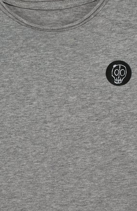 Хлопковая футболка с нашивкой | Фото №3