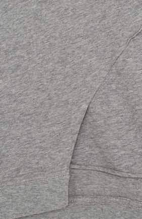 Детская хлопковая футболка асимметричного кроя NUNUNU серого цвета, арт. NU1713A | Фото 3