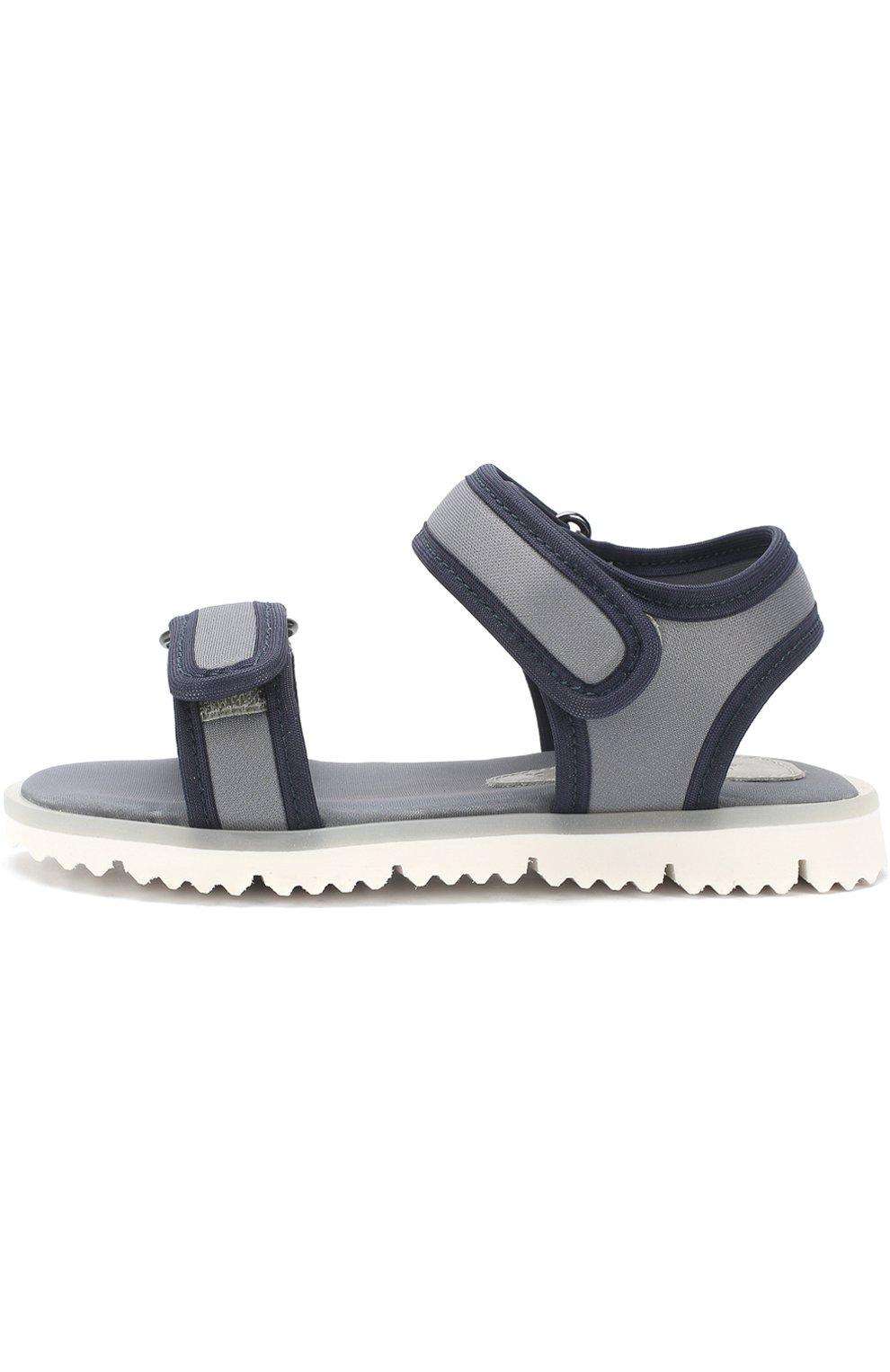Детские текстильные сандалии с застежками велькро JOG DOG серого цвета, арт. LISB0NA 03R/LYCRA/30-35 | Фото 2