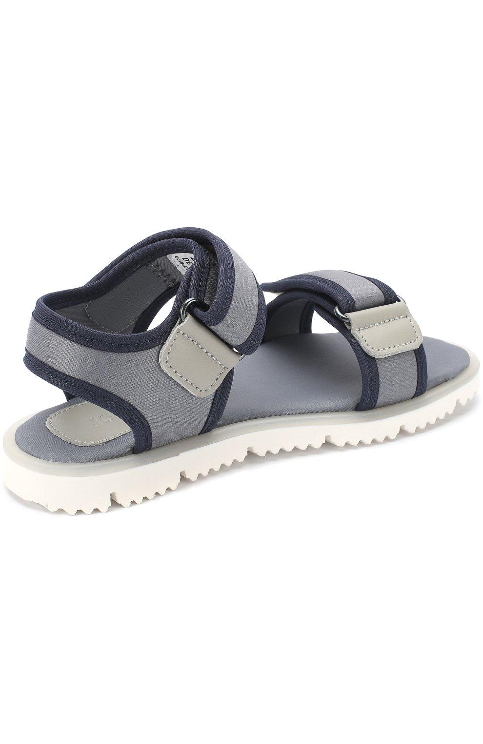Детские текстильные сандалии с застежками велькро JOG DOG серого цвета, арт. LISB0NA 03R/LYCRA/30-35 | Фото 3