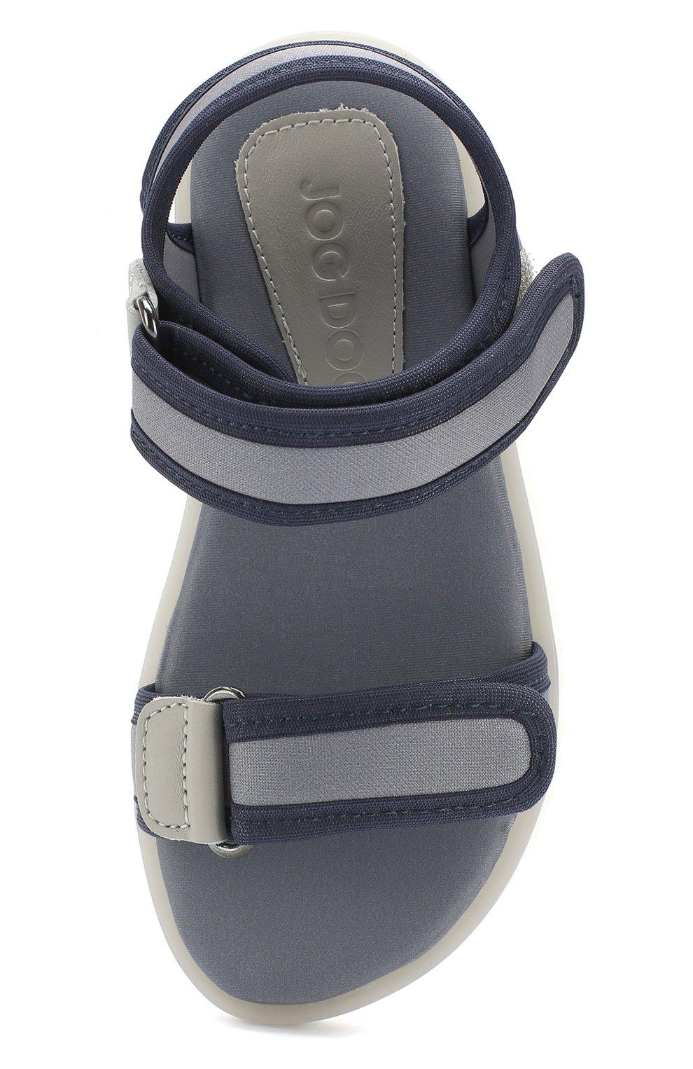 Детские текстильные сандалии с застежками велькро JOG DOG серого цвета, арт. LISB0NA 03R/LYCRA/30-35 | Фото 4
