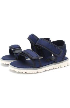 Детские текстильные сандалии с застежками велькро JOG DOG синего цвета, арт. LISB0NA 03R/LYCRA/30-35 | Фото 1