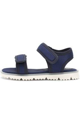 Детские текстильные сандалии с застежками велькро JOG DOG синего цвета, арт. LISB0NA 03R/LYCRA/30-35 | Фото 2