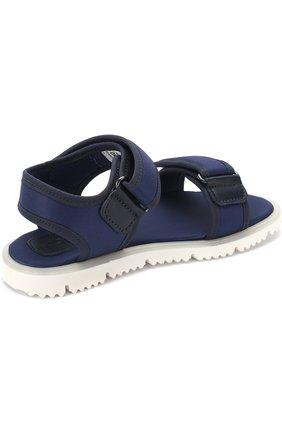 Детские текстильные сандалии с застежками велькро JOG DOG синего цвета, арт. LISB0NA 03R/LYCRA/30-35 | Фото 3