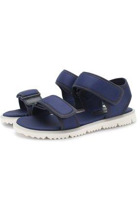 Детские текстильные сандалии с застежками велькро JOG DOG синего цвета, арт. LISB0NA 03R/LYCRA/36-39   Фото 1