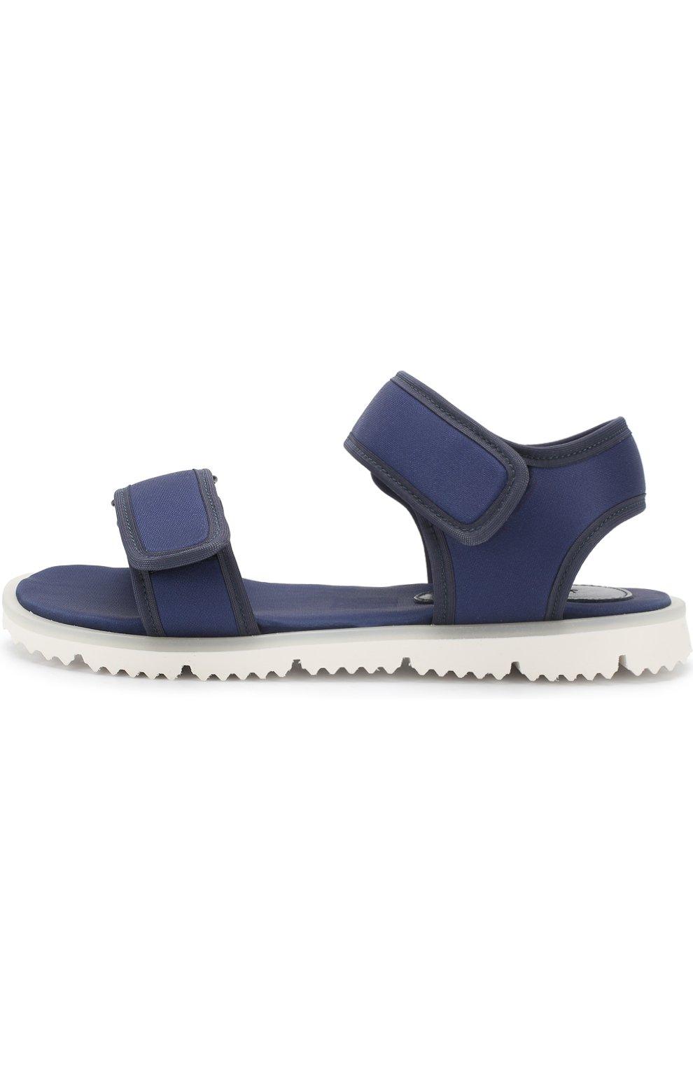 Детские текстильные сандалии с застежками велькро JOG DOG синего цвета, арт. LISB0NA 03R/LYCRA/36-39   Фото 2