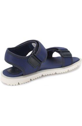 Детские текстильные сандалии с застежками велькро JOG DOG синего цвета, арт. LISB0NA 03R/LYCRA/36-39   Фото 3