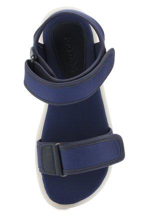 Детские текстильные сандалии с застежками велькро JOG DOG синего цвета, арт. LISB0NA 03R/LYCRA/36-39   Фото 4