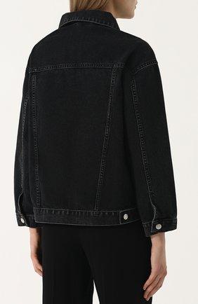 Джинсовая куртка свободного кроя с пайетками   Фото №4
