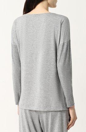 Женская пижама из вискозы HANRO серого цвета, арт. 076390 | Фото 3