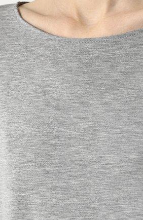 Женская пижама из вискозы HANRO серого цвета, арт. 076390 | Фото 6