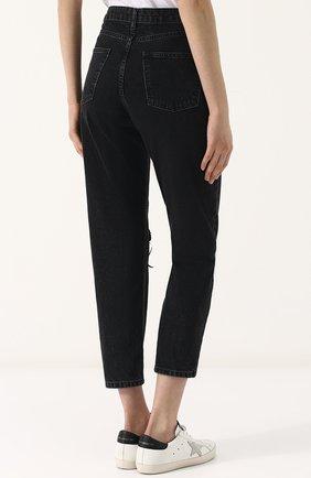 Женские джинсы прямого кроя с пайетками DALOOD черного цвета, арт. BD0179D17/BLACK | Фото 4