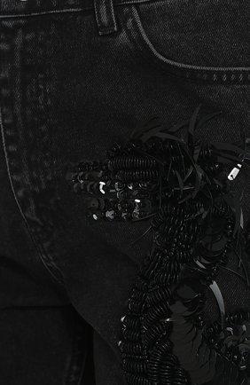 Женские джинсы прямого кроя с пайетками DALOOD черного цвета, арт. BD0179D17/BLACK | Фото 5