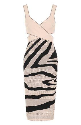 Вязаное платье-футляр из вискозы | Фото №1