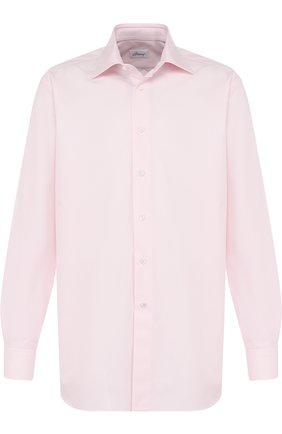 Мужская хлопковая сорочка с воротником кент BRIONI светло-розового цвета, арт. RCL425/PZ000   Фото 1