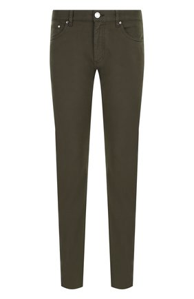 Мужские хлопковые брюки ERMENEGILDO ZEGNA оливкового цвета, арт. UPI71/JS01   Фото 1