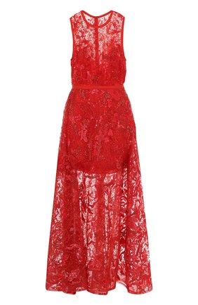 Приталенное кружевное платье-макси   Фото №1