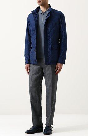Мужское шерстяное поло с длинными рукавами BRIONI голубого цвета, арт. UMS10S/PZK03 | Фото 2