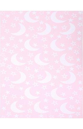 Хлопковое одеяло с принтом Kissy Kissy розового цвета | Фото №1