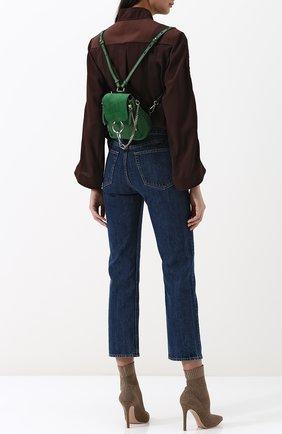 Рюкзак Faye mini Chloé зеленый | Фото №2