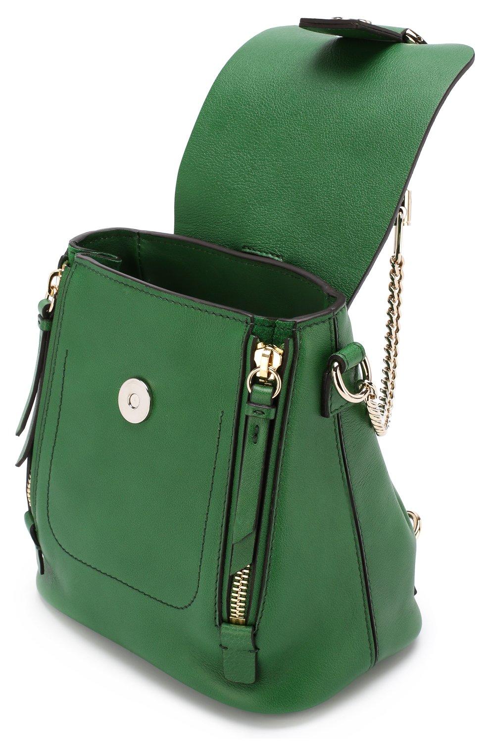 Рюкзак Faye mini Chloé зеленый | Фото №4