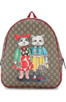 Детская рюкзак с контрастным принтом GUCCI разноцветного цвета, арт. 501976/9KWBN | Фото 1