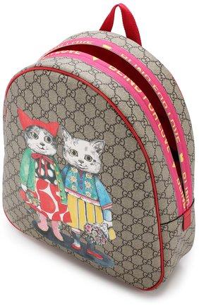 Детская рюкзак с контрастным принтом GUCCI разноцветного цвета, арт. 501976/9KWBN | Фото 2