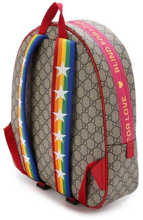 Детская рюкзак с контрастным принтом GUCCI разноцветного цвета, арт. 501976/9KWBN | Фото 3