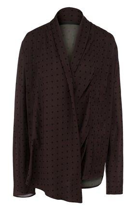 Блуза свободного кроя с V-образным вырезом | Фото №1