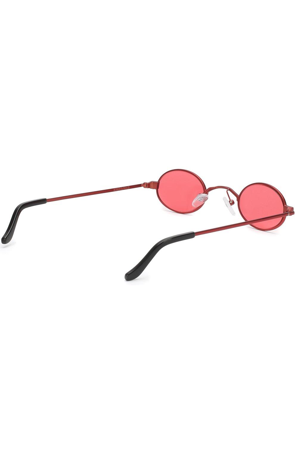 Женские солнцезащитные очки ROBERI & FRAUD красного цвета, арт. D0RIS RED | Фото 3